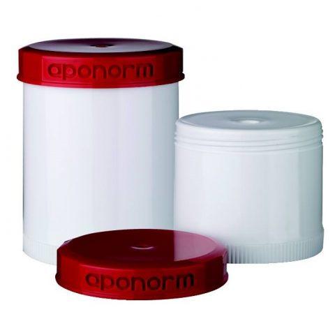 TOPITEC® Piros/Fehér, krém adagolós tégelyek
