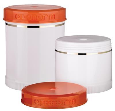 TOPITEC® Narancs/Fehér krém adagolós tégelyek