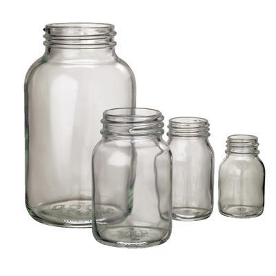Fehér Tároló üveg