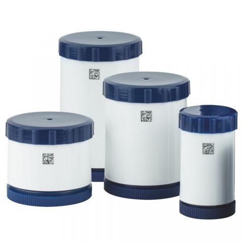 TOPITEC® Kék/Fehér krém adagolós tégelyek