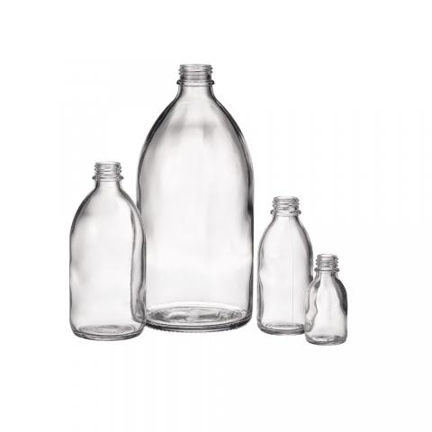 Fehér üvegpalackok